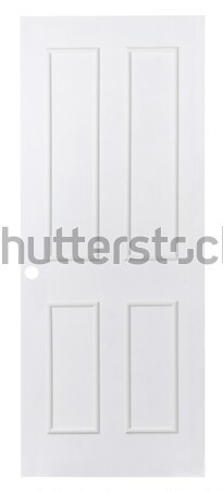 Stock photo: White plain leaf door for paint others color into it