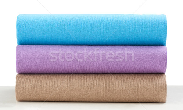 Colorful shirts or cloths arranges display overlap each other th Stock photo © JohnKasawa