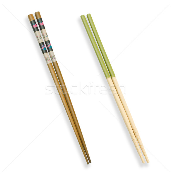 Beautyful and useful chopsticks for asian food eating  Stock photo © JohnKasawa