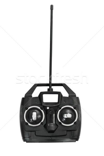 Carro helicóptero brinquedo controle remoto isolado branco Foto stock © JohnKasawa