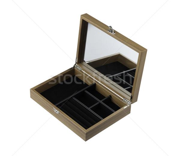 Open empty wooden jewelry box  Stock photo © JohnKasawa