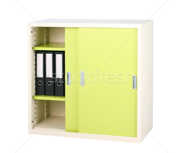 Steel furniture in bright green color great for storage files  Stock photo © JohnKasawa