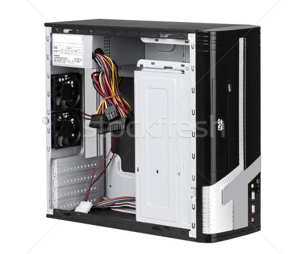 Foto stock: Abierto · ordenador · caso · hardware · manos