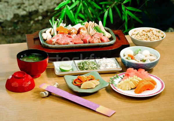 Japon ayarlamak gıda balık sağlık Stok fotoğraf © JohnKasawa