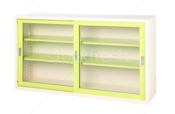 Transparent cabinet in bright green color suitable all offices Stock photo © JohnKasawa