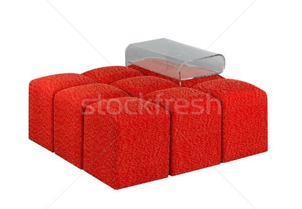 Pretty idea to arranging the stools to be a sofa with acrylic ma Stock photo © JohnKasawa