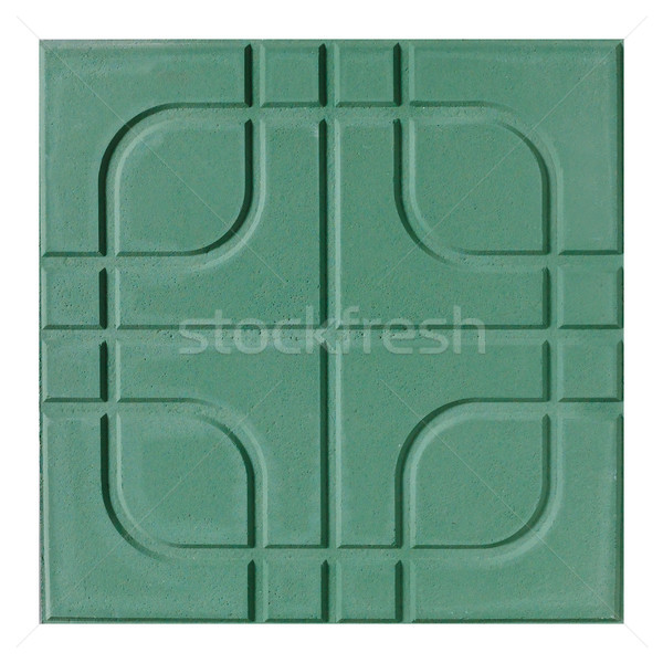 Beautiful floor tile in green color great for outdoor pathway Stock photo © JohnKasawa