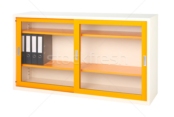 Cabinet stainless steel office or factory furniture isolates on  Stock photo © JohnKasawa