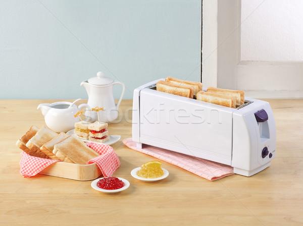 хлеб тостер завтрак плодов сэндвич сока Сток-фото © JohnKasawa