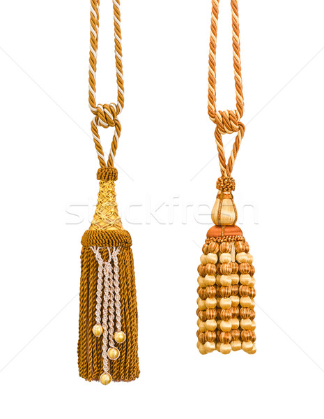 Stock photo: nice handmade of tassels for your beautiful curtain