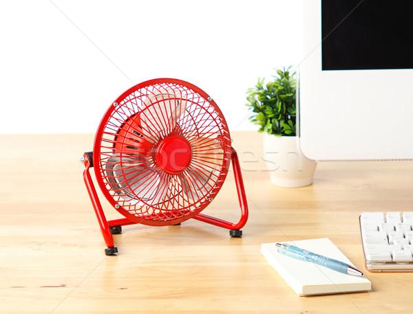 небольшой электрических вентилятор домой холодно свежие Сток-фото © JohnKasawa
