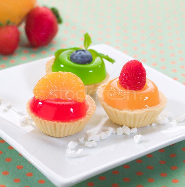 Pomarańczowy maliny deser świeże Zdjęcia stock © JohnKasawa