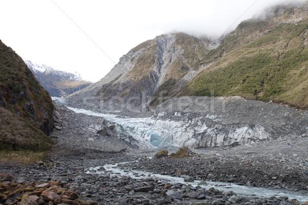 древних ледник Fox города южный Альпы Сток-фото © JohnKasawa