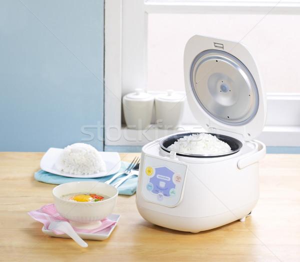 Electric rice cooker pot  Stock photo © JohnKasawa