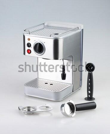 кофе машина инструментом изолированный белый дизайна Сток-фото © JohnKasawa