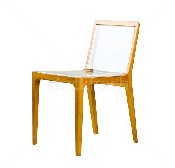 Great idea to mix the acrylic and wood to made a nice chair Stock photo © JohnKasawa