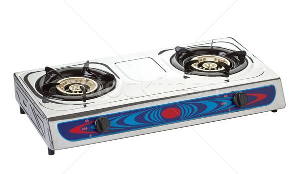 новых газ печи необходимо кухонные принадлежности изолированный Сток-фото © JohnKasawa