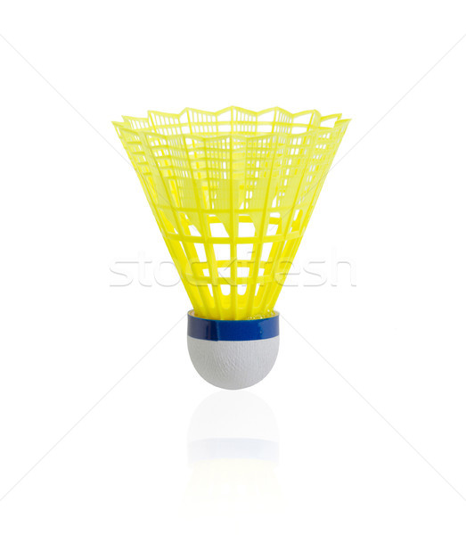 Yellow badminton on white background Stock photo © JohnKasawa