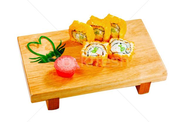 Califórnia japonês maki banco comida japonesa isolado Foto stock © JohnKasawa