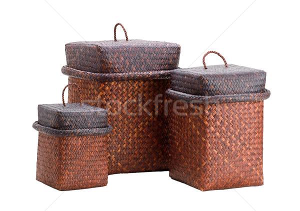 Bamboo boxes for keeping your stuffs Stock photo © JohnKasawa