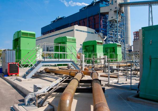 большой воды охлаждение генератор электростанция завода Сток-фото © JohnKasawa