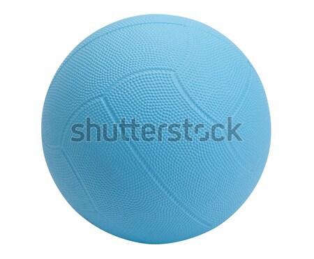 Dodgeball in blue color on white background Stock photo © JohnKasawa