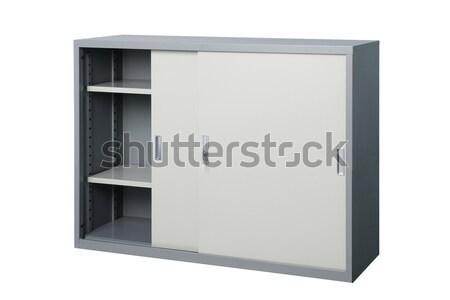 Empty cabinet stainless steel factory furniture  Stock photo © JohnKasawa