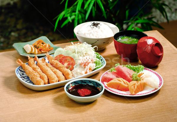 Tempura set one of the Japanese popular menu Stock photo © JohnKasawa