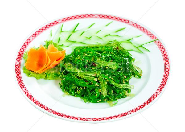 Japans vers zeewier salade geïsoleerd witte Stockfoto © JohnKasawa