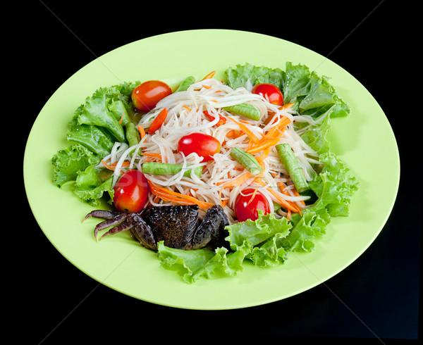 カニ サラダ 辛い タイ料理 プレート ランチ ストックフォト © JohnKasawa