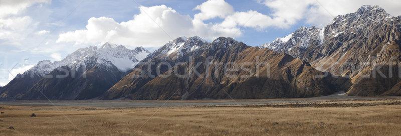 Beautiful panoramic view of the Mt Cook Sefton and Tasman valley Stock photo © JohnKasawa