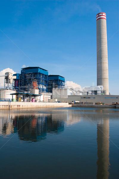 Groene veiligheid elektriciteit generator energiecentrale industriële Stockfoto © JohnKasawa
