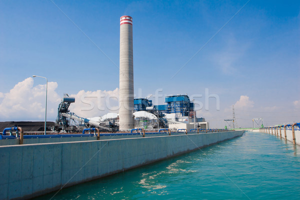 Water and wastewater treatment in the petrochemical site Stock photo © JohnKasawa