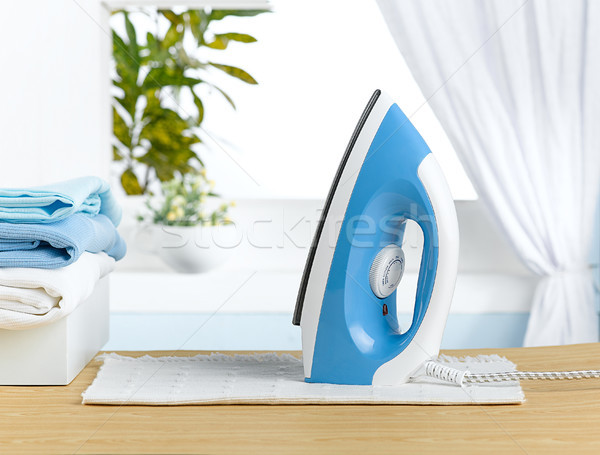 Stock photo: modern design iron for assist housewife work