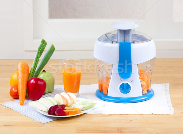 Stock photo: Fruits Juice blender machine easy and healthful at home