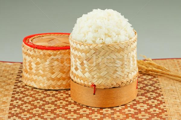 Thai sticky rice in the old fashioned bamboo box   Stock photo © JohnKasawa