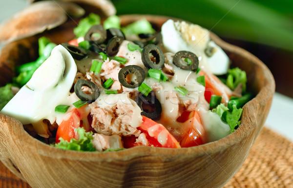 Mediterranean tuna fish salad Stock photo © JohnKasawa