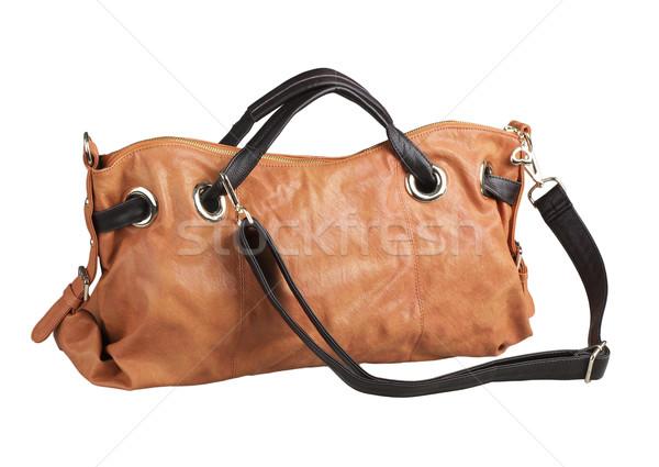Brown sweet color and useful of the woman handbag isolates  Stock photo © JohnKasawa