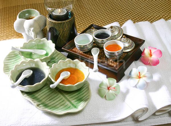 Trattamento termale olio erbe spa stanza Foto d'archivio © JohnKasawa