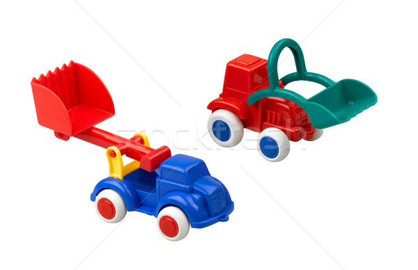 Car plastic truck and excavator toy for kids to have fun with th Stock photo © JohnKasawa