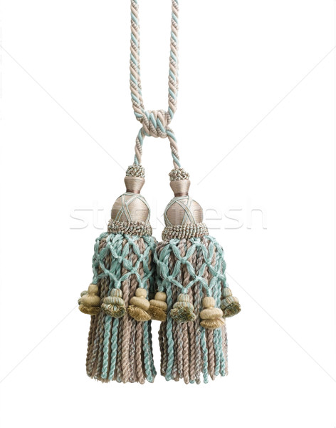 Nice design of tassel from smooth silk textile Stock photo © JohnKasawa