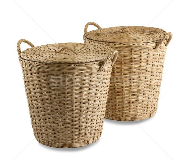 Handmade rattan basket the old fashioned Thai style handicrafts  Stock photo © JohnKasawa
