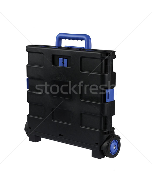 Pojemnik koła zwarty projektu podróży walizkę Zdjęcia stock © JohnKasawa