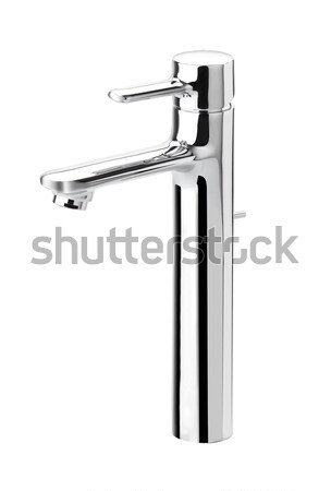 Chrome faucet the bathroom aluminum accessory isolated  Stock photo © JohnKasawa