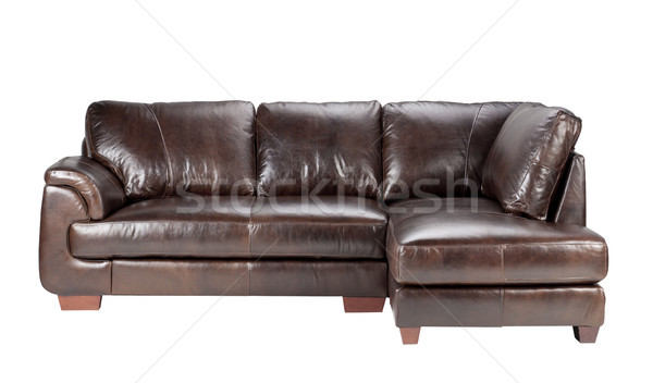 Nice and comfortable luxury genuine leather sofa bench  Stock photo © JohnKasawa