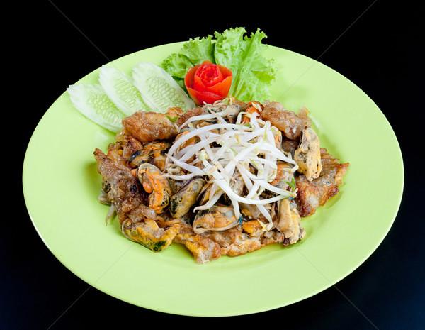Keverés sült bab hajtás thai étel kedvenc Stock fotó © JohnKasawa
