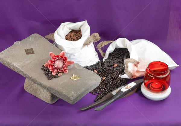 старомодный кофе путешествия текстуры кофе кухне Сток-фото © JohnKasawa