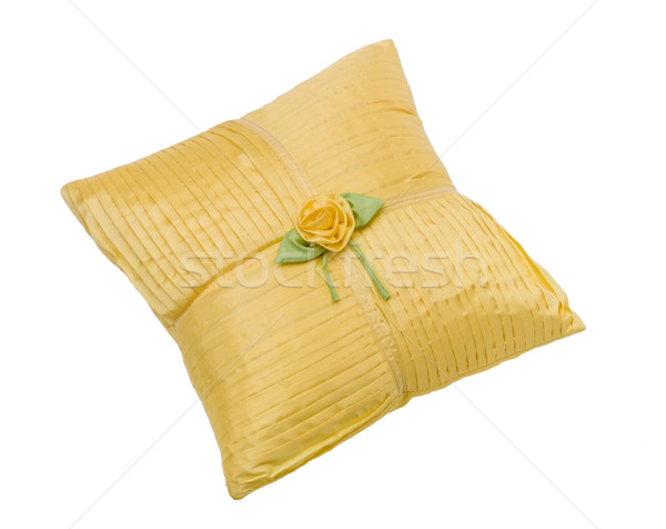 Beautiful yellow cushion for your living room isolated on white  Stock photo © JohnKasawa
