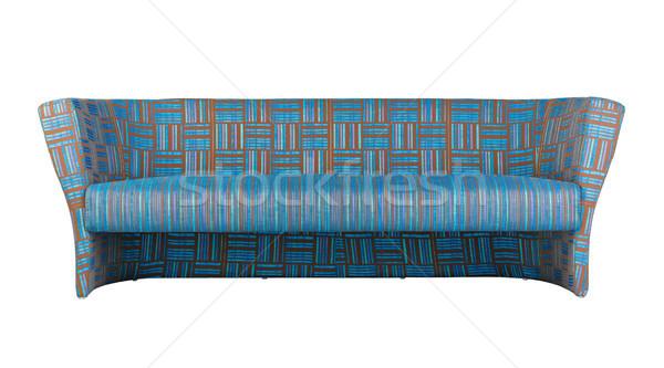 Colorido tira sofá pessoas bom projeto Foto stock © JohnKasawa