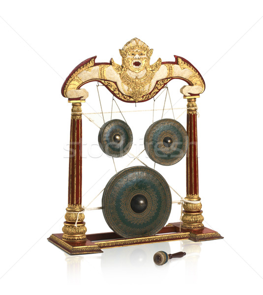 Old fashioned Thai gong musical instrument, they use in special  Stock photo © JohnKasawa